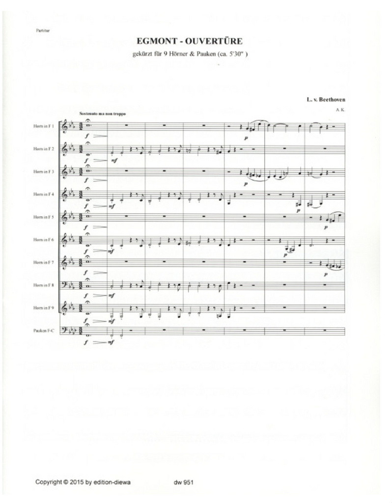 Beethoven, Ludwig - Egmont Overture