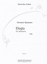 Baumann, Hermann - Elegia (for Natural Horn) (image 1)