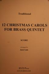 Traditional Christmas - 12 Christmas Carols (Brass Quintet)
