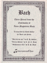 Bach, J.S. - Three Pieces from the Notebooks of Anna Magdalena Bach (image 1)