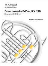 Mozart, W.A. - Divertimento in F, KV 138