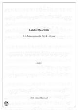 Fifteen Easy Horn Quartets, ed. Matthias Pflaum