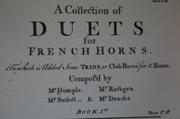 Humple - A Collection of Duets (ca 1760)