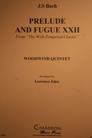 """Bach, J.S. - Prelude & Fugue XXII (From """"The Well-Tempered Clavier"""")"""