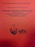 Pizka, Erich - 21 Easy Horn Quartets