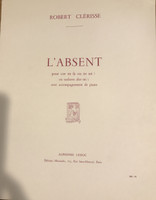 Clerisse, Robert - L'Absent for horn and piano