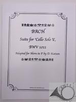 Bach, J.S. Six Cello Suites, arr. for horn by Daniel Katzen