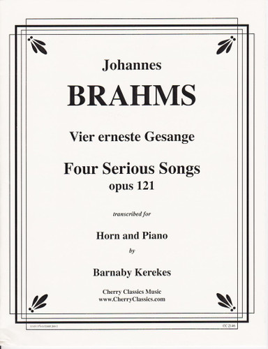 Brahms, J.S. - Four Serious Songs, Op. 121 (image 1)