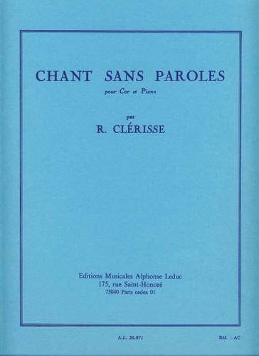 Clerisse, Robert - Chant Sans Paroles (image 1)