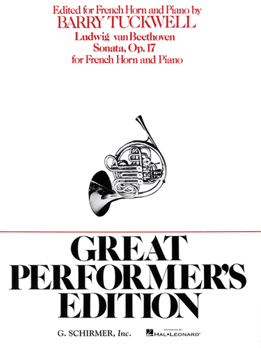 Beethoven, Ludwig - Sonata, Op. 17 (Great Performers Ed.) (image 1)