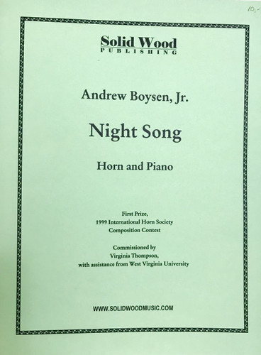 Boysen, Andrew, Jr. - Night Song (image 1)