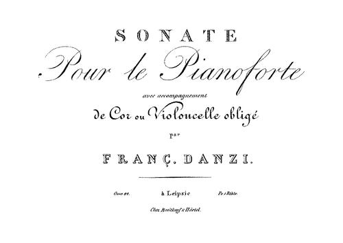 Danzi, Franz - Sonata in E Minor, Op.44 (image 1)