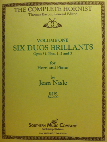 Nisle, Jean - Six Duos Brilliants, Volume 1 (image 1)