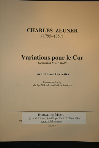 Zeuner, Charles - Variations for the Horn (image 1)