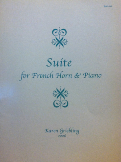 Griebling, Karen - Suite for French Horn & Piano (image 1)