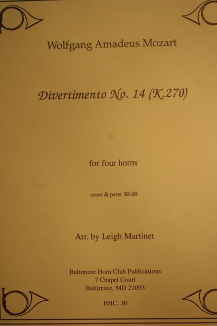 Mozart, W.A. - Divertimento No. 14 (K.270)