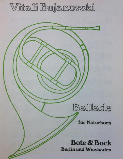 Bujanovski, Vitali - Ballade for Natural Horn (image 1)