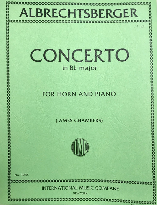 Albrechtsberger, Johann - Concerto In B-Flat Major (image 1)