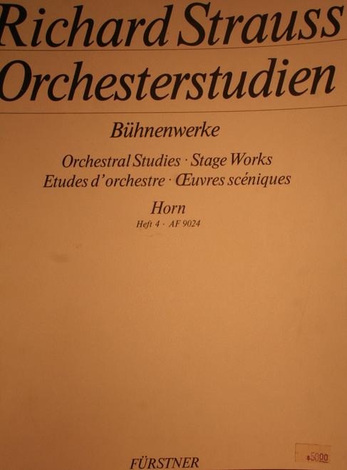 Strauss, Richard - Orchestral Studies, Vol. 4
