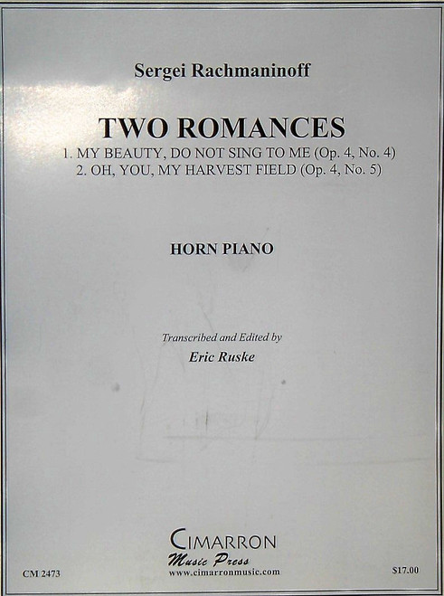 Rachmaninoff, Sergei - Two Romances (image 1)