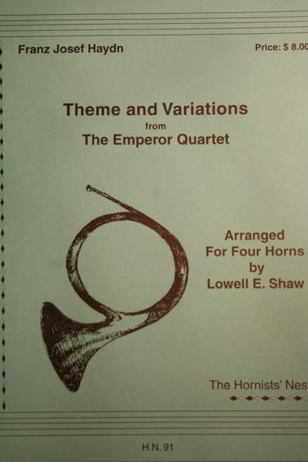 Haydn, F.J. - Theme & Var. From The Emperor Quartet