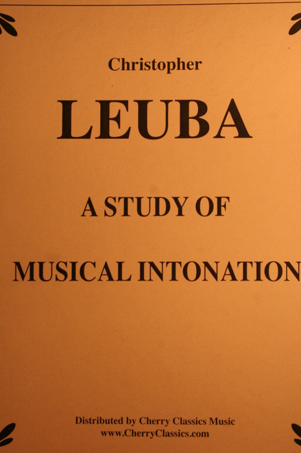 Leuba, Christopher - A Study Of Musical Intonation