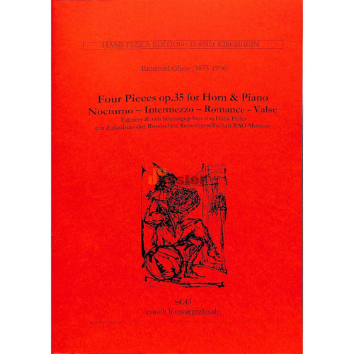 Gliere, Reinhold - Four Pieces, Op. 35 (image 1)