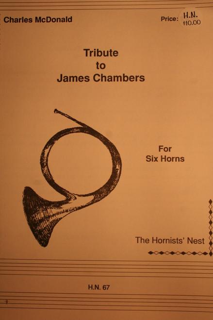McDonald, Charles - Tribute to James Chambers