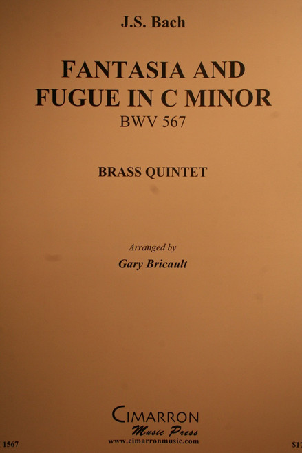Bach, J.S. - Fantasia And Fugue In C Minor, (BWV.567)