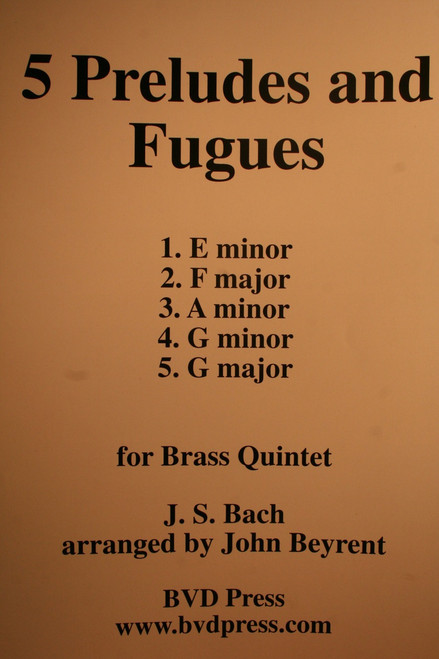 Bach, J.S. - 5 Preludes & Fugues