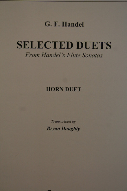 Handel, G.F. - Selected Duets from Flute Sonatas
