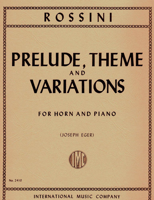 Rossini, Gioacchino - Prelude, Theme and Variations (image 1)