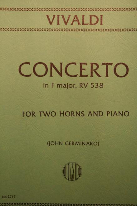 Vivaldi, Antonio - Concerto in F Major, RV 538 (for Two Horns and Piano)