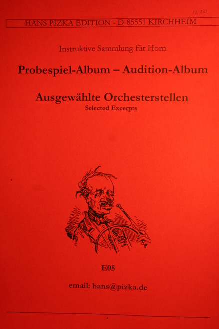 Pizka, Hans - Audition Album, Selected Orchestral Excerpts