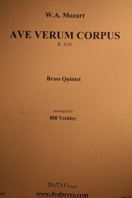 Mozart, W.A. - Ave Verum Corpus (K.618) (Brass Quintet)
