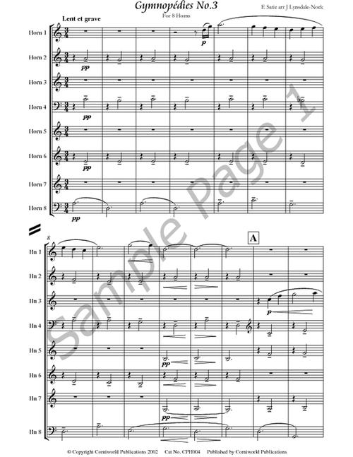 Satie, E. - Gymnopedies, No. 3