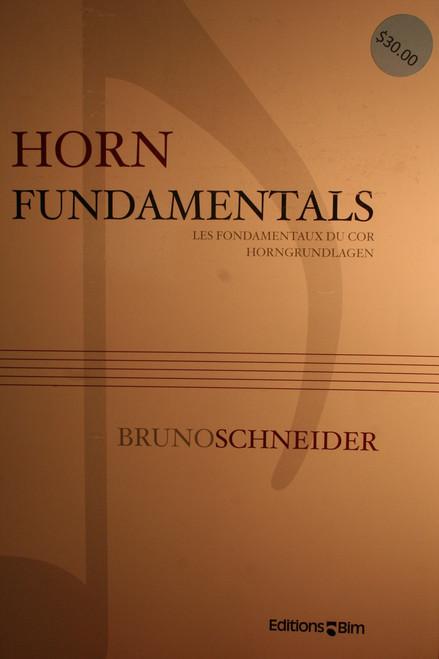 Schneider, Bruno - Horn Fundamentals