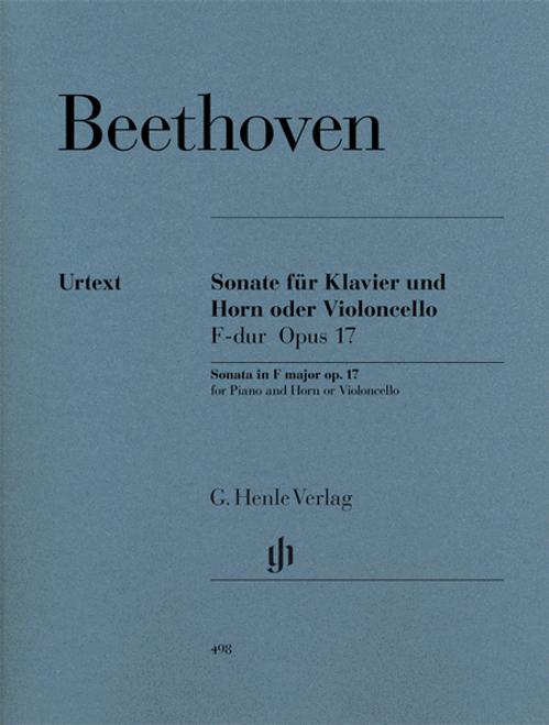 Beethoven, Ludwig - Sonata, Op. 17 (Urtext Ed.) (image 1)