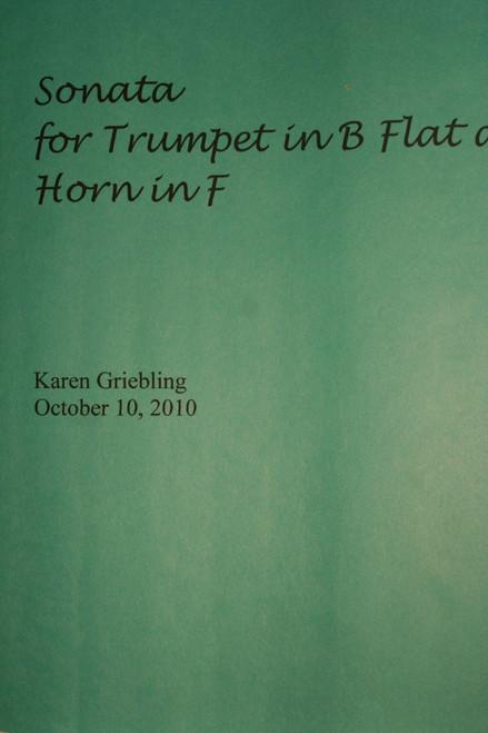 Griebling, Karen - Sonata