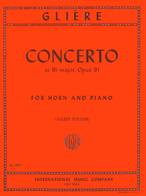 Gliere, Reinhold - Concerto in Bb Major, Op. 91 (image 1)