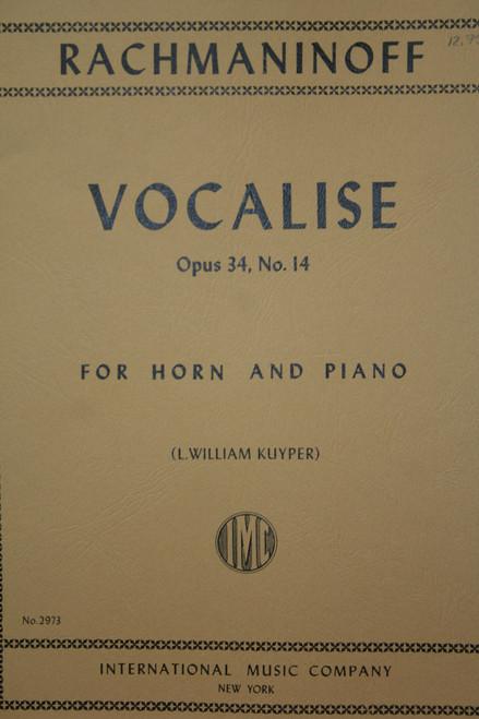 Rachmaninoff, Sergei - Vocalise (image 1)