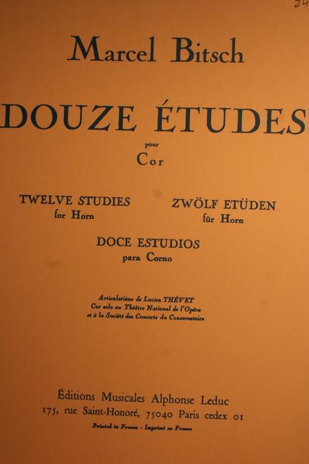 Bitsch, Marcel - Douze Etudes (12 Studies)