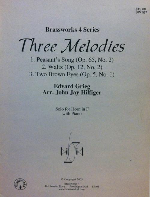Grieg, Edvard - Three Melodies (image 1)