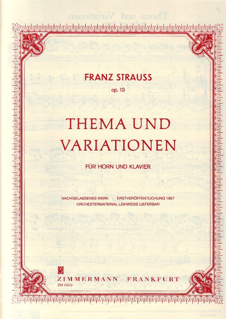 Strauss, Franz - Theme and Variations, Op.13 (image 1)