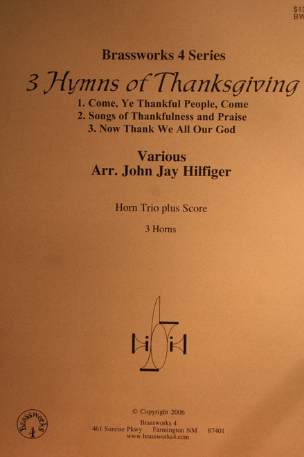 Traditional - 3 Hymns of Thanksgiving