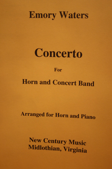 Waters, Emory - Concerto for Horn and Concert Band (Arranged for Horn and Piano) (image 1)