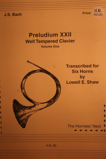 Bach, J.S. - Preludium XXII, Well Tempered Clavier, Vol. 1