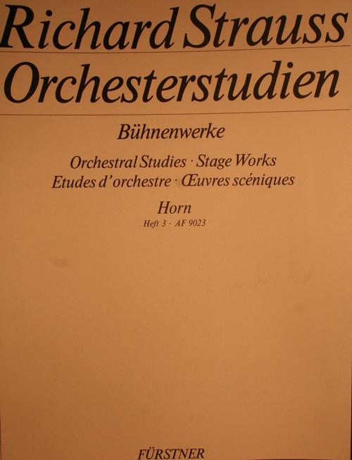 Strauss, Richard - Orchestral Studies, Vol. 3