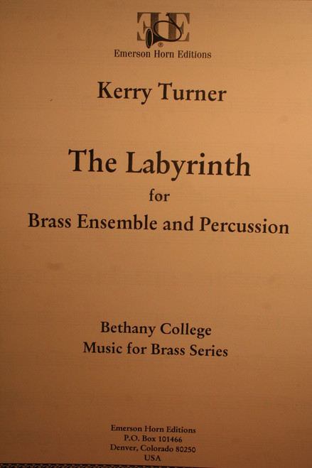Turner, Kerry - The Labyrinth (Brass Ensemble, Percussion) SCORE ONLY
