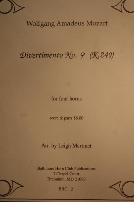 Mozart, W.A. - Divertimento No. 9 (K.240)